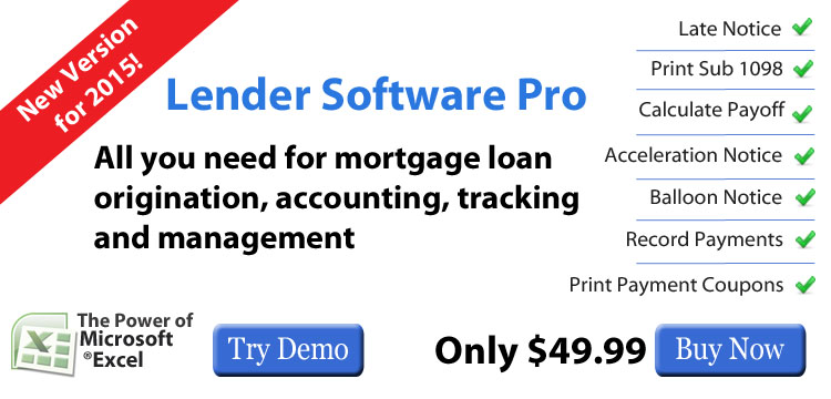 Lender Software For Note Accounting And Management