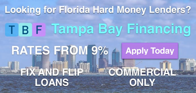 Hard Money Loans from Private Lenders from Tampa Bay Financing Commercial Brokers
